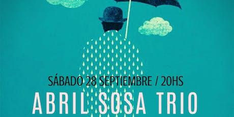 Abril Sosa Trio en El Multi. entradas