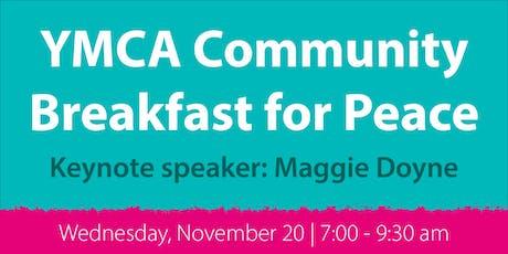 YMCA Community Breakfast for Peace 2019 tickets