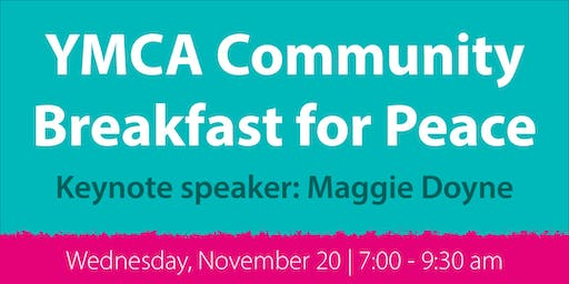 YMCA Community Breakfast for Peace 2019
