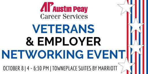 """Veterans & Employer Networking Event"" hosted by APSU Office of Career Services"