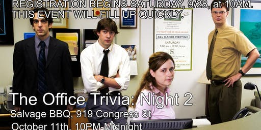 NIGHT 2: The Office Trivia at Salvage BBQ