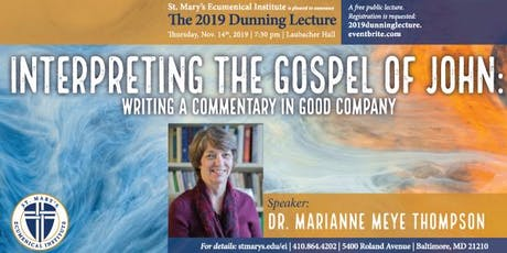 2019 Dunning Lecture: Dr. Marianne Meye Thompson tickets