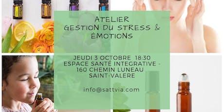 Atelier huiles essentielles pour la gestion du stress et émotions billets