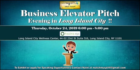 Business Elevator Pitch Evening and Holistic Seminars tickets