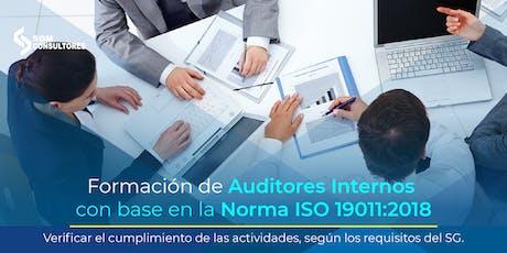 Formación y Actualización de Auditores con base a la Norma ISO 19011:2018 - CDMX entradas