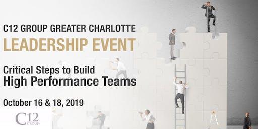 Winning Strategies to Build High Performance Teams
