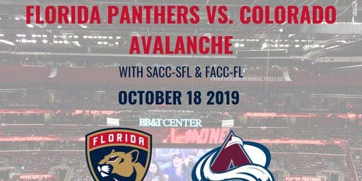 FLORIDA PANTHERS VS. COLORADO AVALANCHE w/SACC-SFL & FACC-FL