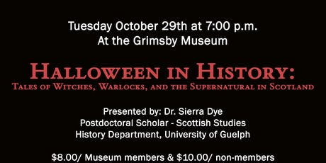 Halloween in History: Tales of Witches, Warlocks, and the Supernatural tickets