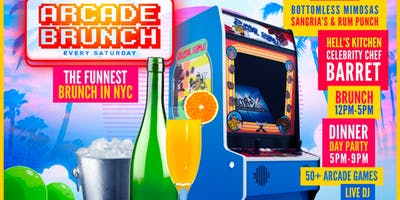 The Arcade Brunch | BottomLess Mimosa | 50+ Arcade Games | Free Entry