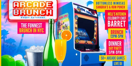 The Arcade Brunch | BottomLess Mimosa | 50+ Arcade Games | Free Entry tickets