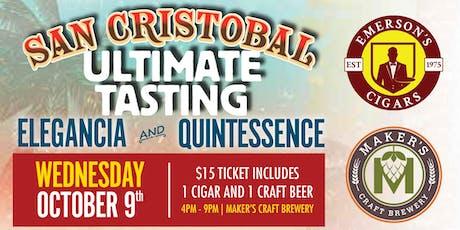 San Cristobal Ultimate Tasting tickets