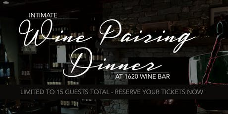 Wine Pairing Dinner tickets