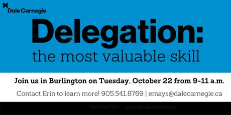 Leadership Strategies Workshop: Delegation - Burlington tickets