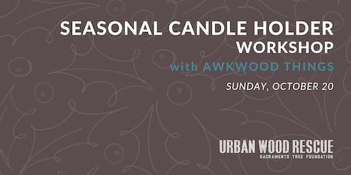 DIY Seasonal Candle Holders with Awkwood Things