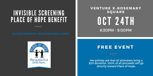Invisible Screening & Place of Hope Benefit Event