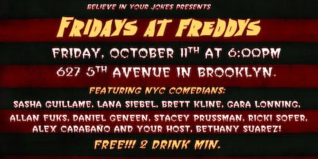 Fridays at Freddys Comedy Show tickets