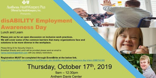 Anthem Healthkeepers Plus disABILITY Employment Awareness Day