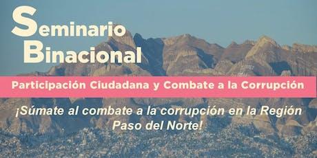 Seminario Binacional Anticorrupción boletos