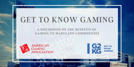 A discussion on the benefits of gaming for Maryland communities tickets
