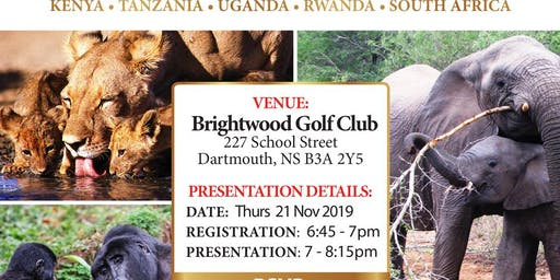 TPI & Tourcan Vacations African Safari Presentation- Nov 21- 6:45 pm