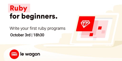 Ruby for Beginners   Free workshop with Le Wagon Rio Coding Bootcamp