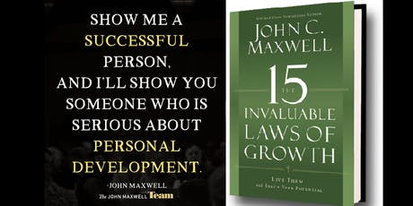 """Mastermind (6 weeks) - John Maxwell's """"15 Invaluable Laws of Growth"""" tickets"""