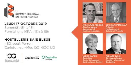 Les Rdv du repreneuriat - Sommet régional du repreneuriat en Gaspésie + Formations MPA