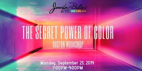 The Secret Power of Color Workshop tickets