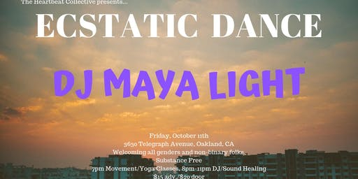 Ecstatic Dance at The Heartbeat Collective with Maya Light
