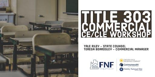 FNTG 2019 Title 303/Commercial Workshop - Knoxville