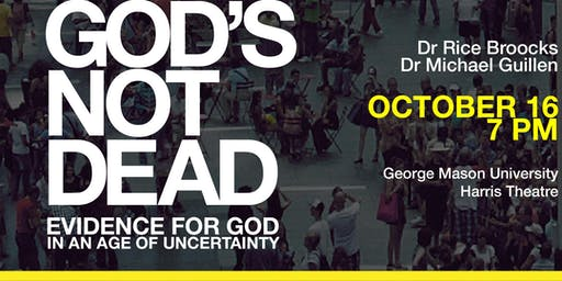 God's Not Dead with Dr. Rice Broocks at George Mason University