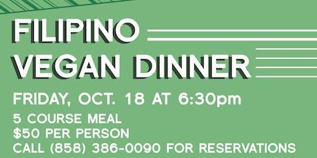 Filipino Vegan Dinner by Chef Dj Tangalin tickets