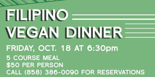 Filipino Vegan Dinner by Chef Dj Tangalin