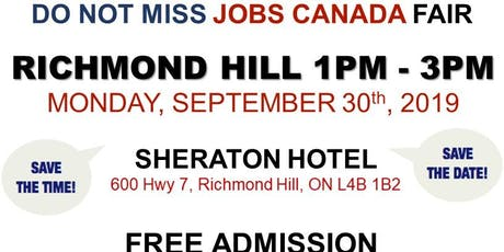 Richmond Hill Job Fair – September 30th, 2019 tickets