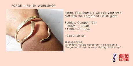 FORGE AND FINISH JEWELRY MAKING WORKSHOP tickets