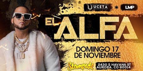 El Alfa tickets