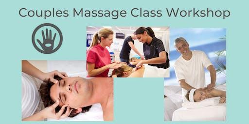 Couples Massage Class Workshop 90 Minutes