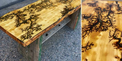 Fractal Burn & Finish Your Own Live Edge Table Top