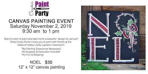 NOEL -- Saturday November 2   9:30 am