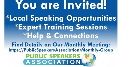 Round Rock/Georgetown Area Public Speakers Association Chapter Meeting