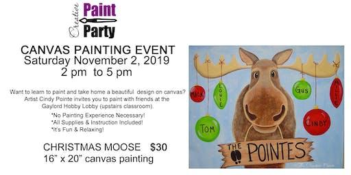 Christmas Moose -- Saturday November 2nd    2 pm