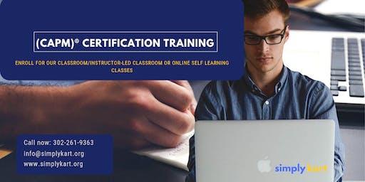 CAPM Classroom Training in Argentia, NL
