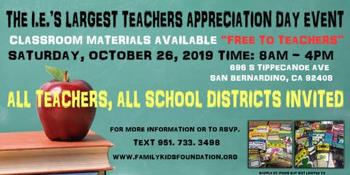 The I.E.'s Largest Teachers Appreciation Day Event
