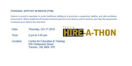 PSW HIRING EVENT: CareCore Health Services tickets