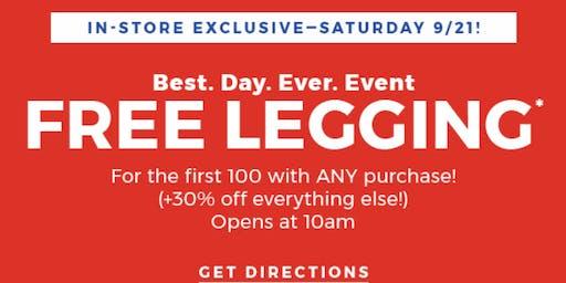FREE LEGGING, FIRST 100 CUSTOMERS