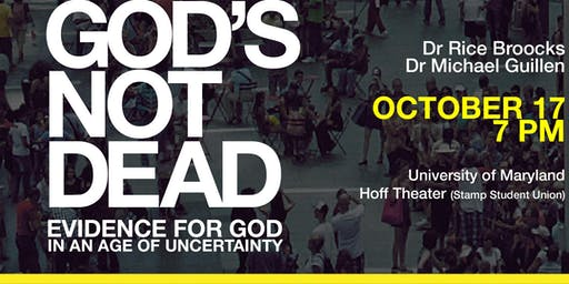 God's Not Dead with Dr. Rice Broocks at University of Maryland