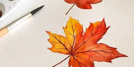 Autumn Leaves Watercolor Workshop tickets