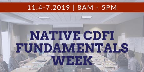 CDFI Fundamentals November 4-7, 2019 tickets
