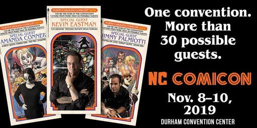NC Comic Con Nov 8-10 2019 Bull City