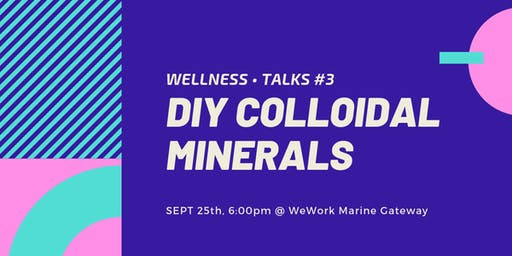Wellness • Talks #3 ‑ DIY Colloidal Mineral Making